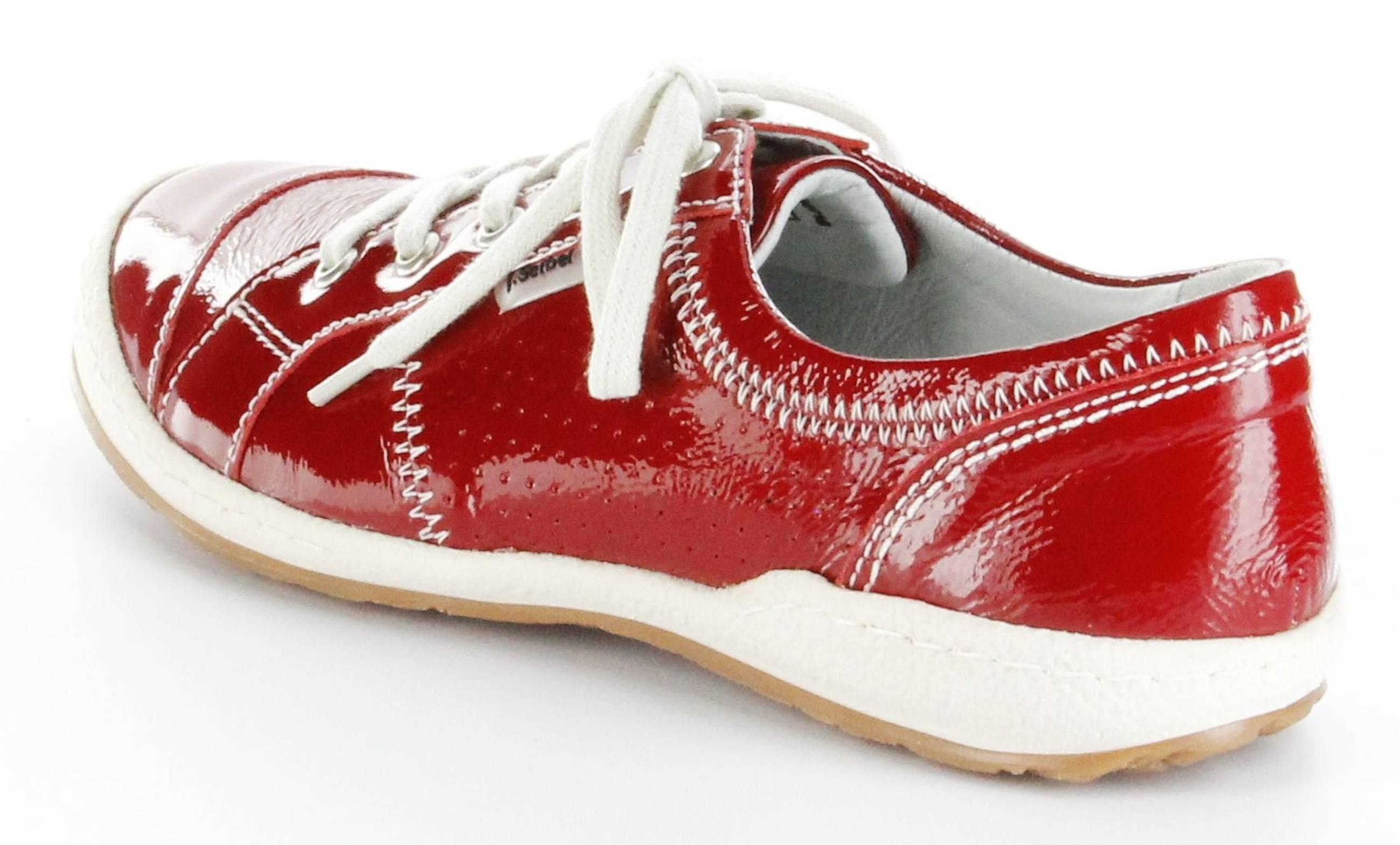 josef seibel sneaker rot leder decksohle damen schuhe caspian. Black Bedroom Furniture Sets. Home Design Ideas