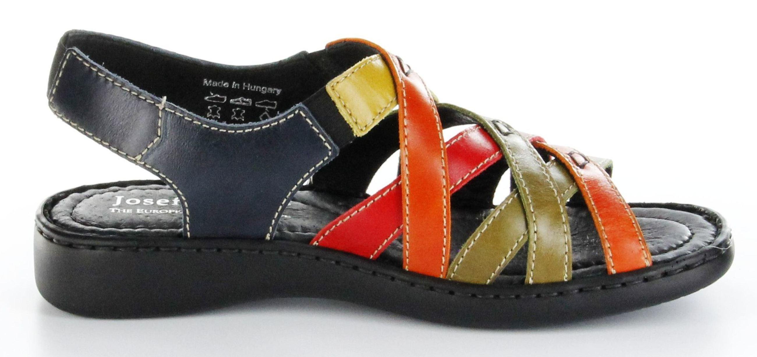 josef seibel sandaletten multicolor lederdeck keil leder. Black Bedroom Furniture Sets. Home Design Ideas