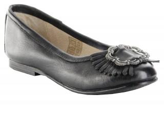 Trachtenschuhe Ballerina Glattleder Trachten Schuhe Mary Jane Schwarz, Größe:40