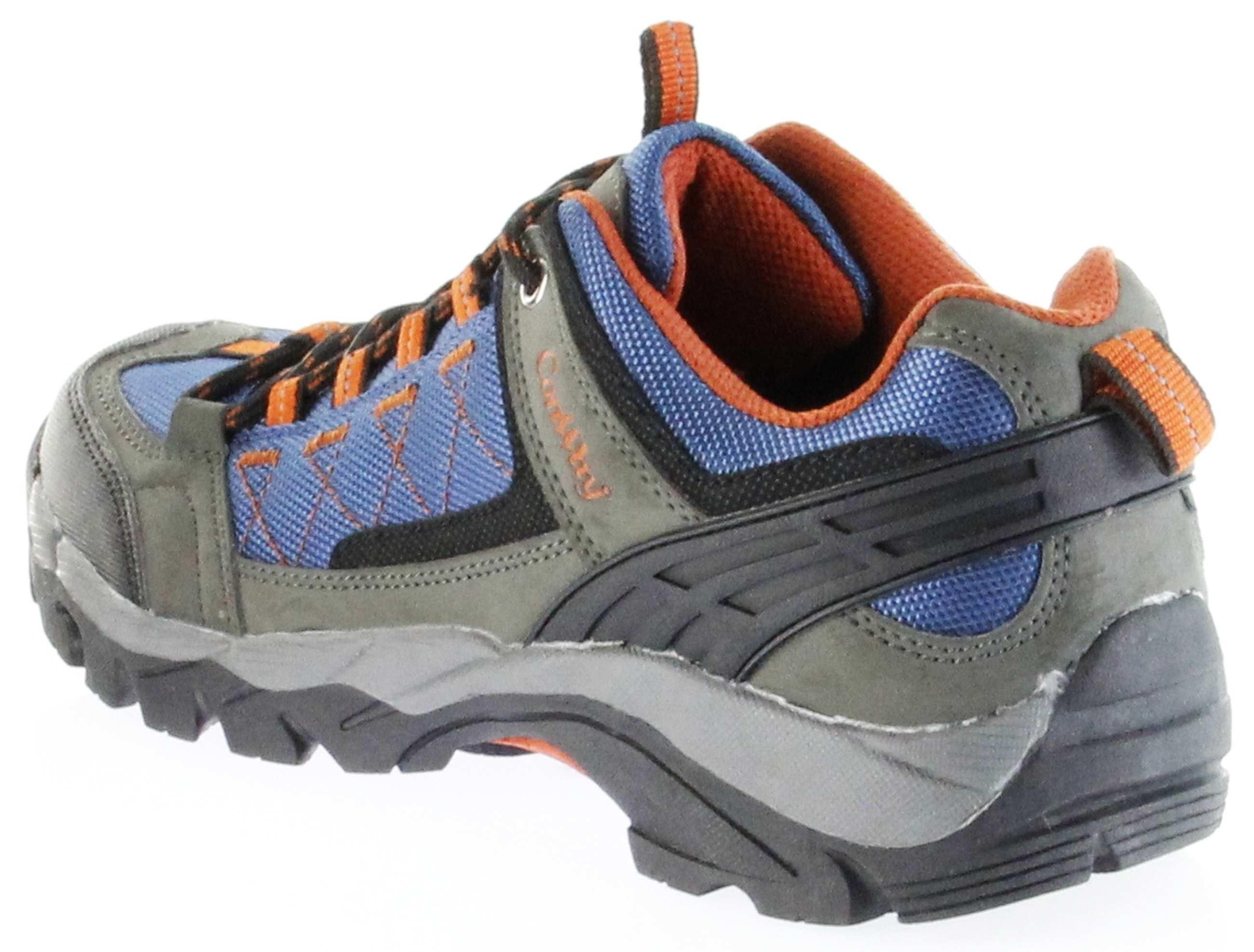 ConWay Sportschuhe Blau Herren Damen Outdoor Trekking Schuhe Nauders Blau Orange, Farbe:Blau, Größe:37